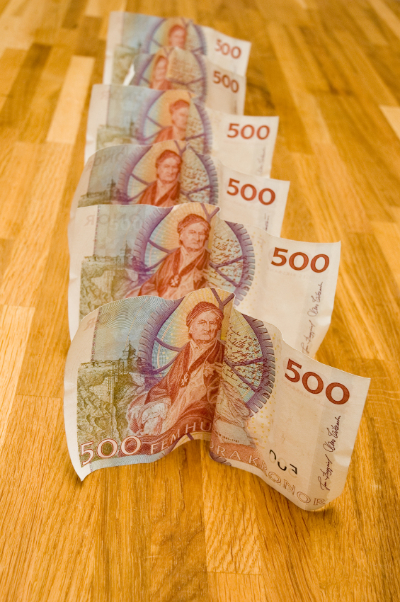 3000 kronor i sedlar