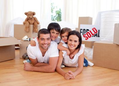 Familj som fått bostadslån